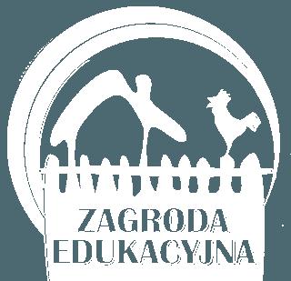 Zagroda Edukacyjna Logo białe